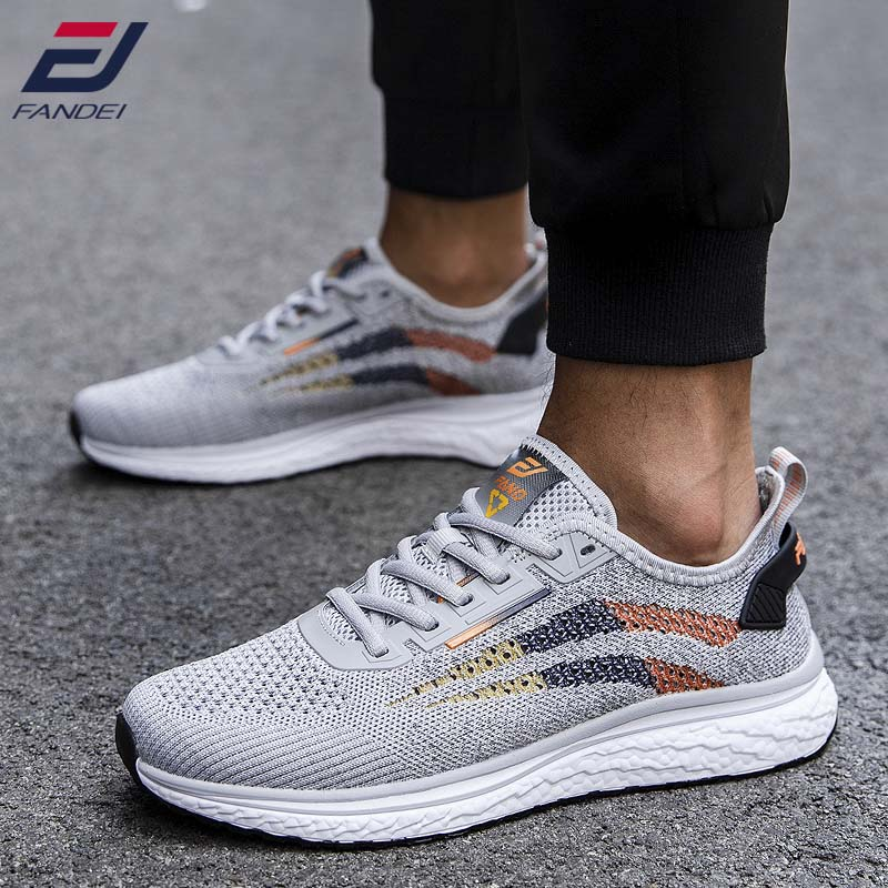 FANDEI Light Running Shoes Men Breathable Sport Shoes Men Outdoor Walking Shoes Cushioning Outsole  Trainer Shoes Men Sneakers
