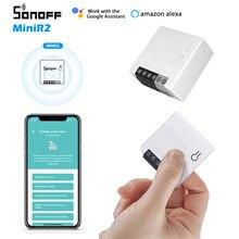 Autorização original sonoff minir2 wifi diy mini interruptor temporizador de automação residencial inteligente compatível com alexa casa do google