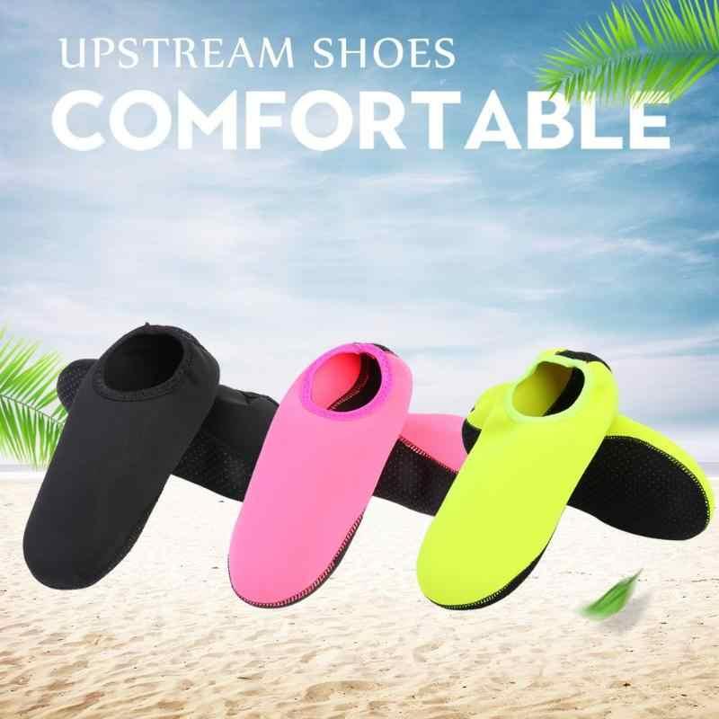 Erkekler kadınlar su plaj ayakkabısı Unisex yaz Aqua yumuşak ayakkabı dalış çorapları spor ayakkabı dalış çorapları kaymaz ayakkabı