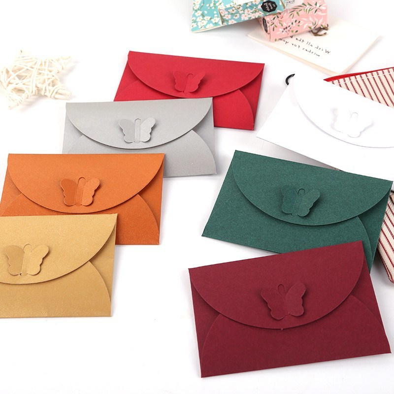 Wholesale Customizable Creative European Style Heart·traeh Xing Kou Card Envelope Invitation Postcard Envelope Bronze Printing L