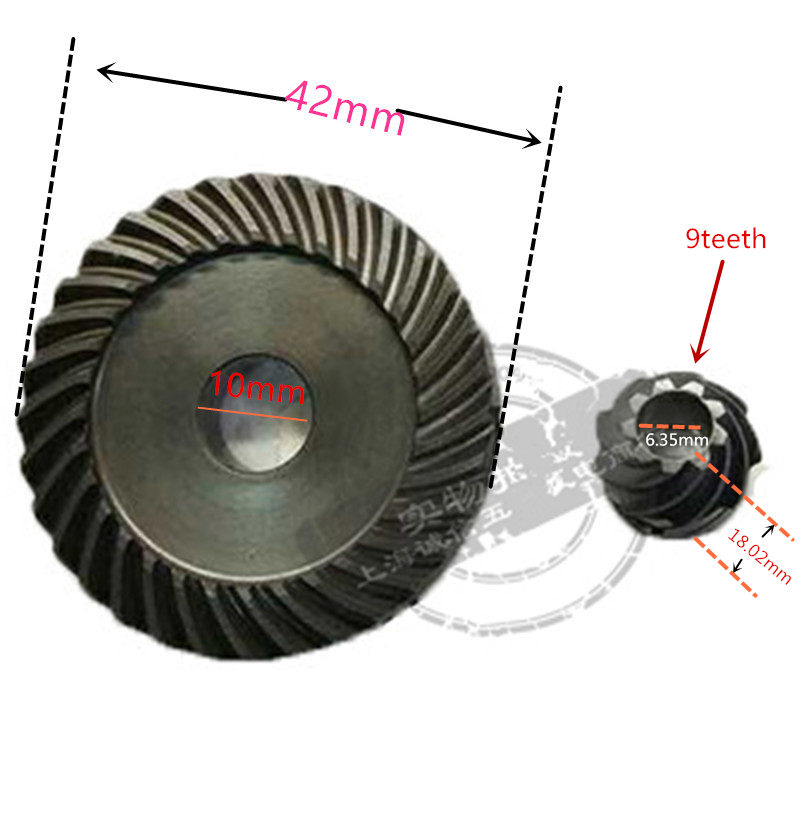 Crown Spiral Bevel Gear Set For DeWALT N191433 DWE8110S DWE8111S DWE8101T DWE8101S DWE8100T DWE8100 DWE8100S