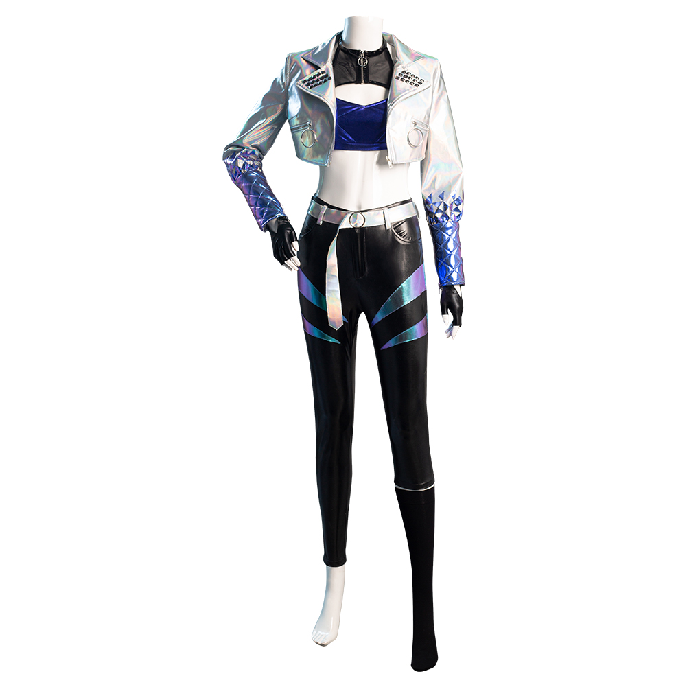 Details about  /League of Legends LOL KDA Groups Akali The Rogue Assassin Cosplay Costume