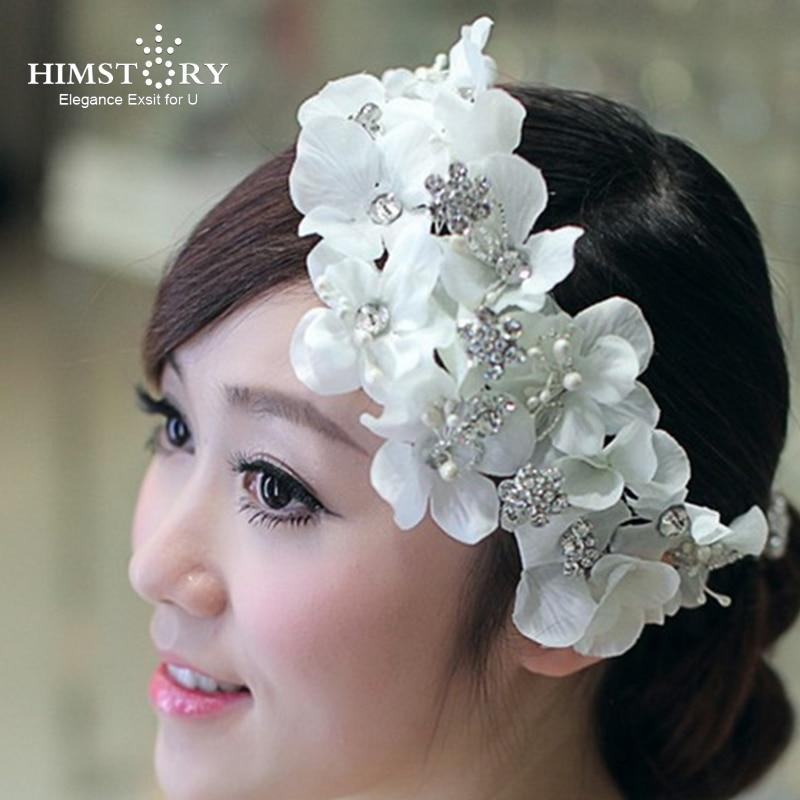 HISTÓRIA Elegância Floral Feito À Mão Flores de Noiva Jóia Do Cabelo Do Casamento Acessório Do Casamento Headpiece Tiara Cocar