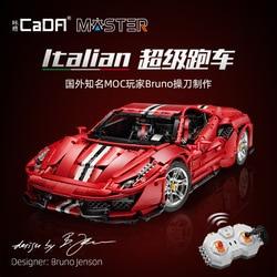 IN STOCK CaDA RC High-tech MOC C61042 3187Pcs Italian Super Racing Car Model Building Blocks Bricks Toys for kids christmas gift