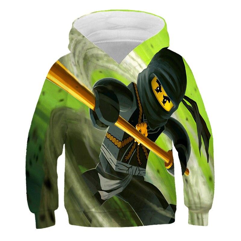 4-14 Years Baby Girl Hoodie Boys Sweatshirt The streets of harajuku Ninjagoes Hoodies Legoes Clothes Cartoon Children Jumpers 3