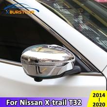 Xburstcar For Nissan Xtrail X Trail T32 2014   2020 ABS Chrome Car Rearview Mirror Cover Rear View Mirror Strips Accessories