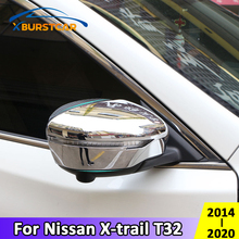 Xburstcar Nissan Xtrail x trail T32 2014   2020 ABS krom araba dikiz aynası kapağı dikiz aynası şeritler aksesuarları