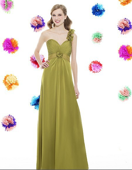2020 New Dress Elegant Chiffon Long Sweetheart Open Back Empire Waist Detachable Strap Rosettes Floor Length Bridesmaid Dress