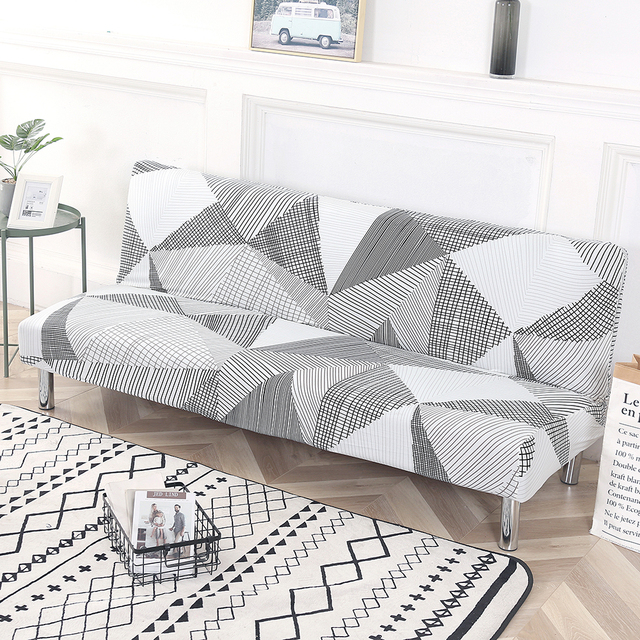 Universal Fold Armless Sofa Bed Cover Folding seat slipcover Modern stretch  covers cheap Couch Protector Elastic Futon Cover|Sofa Cover| - AliExpress