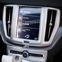 For Volvo XC60 2018 2019 ABS Matte/Carbon Fibre Car sticker navigation panel decoration Cover Trim styling Accessories 1pcs
