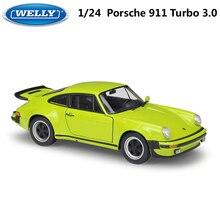 WELLY литой автомобиль 1:24 классический металлический 1974 Porsche 911 Turbo3.0 спортивный автомобиль игрушечный автомобиль из сплава модель игрушки для детей Коллекция подарков