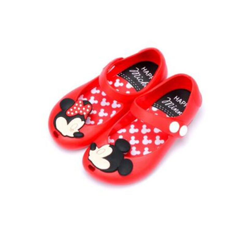 Melissa Summer Cute Cartoon Jelly Shoes Girls Sandals Infants Minnie Mickey Children Shoes Baby Girls Shoes 13-17cm