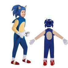 Deluxe sonic the hedgeho traje crianças jogo personagem cosplay traje de halloween para crianças