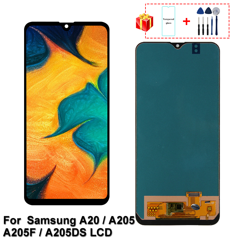 6.4'' For <font><b>Samsung</b></font> <font><b>A20</b></font> <font><b>LCD</b></font> A205 A205F A205DS <font><b>LCD</b></font> Display Screen A205GN A205S A205YN Display screen Digitizer Assembly Parts image