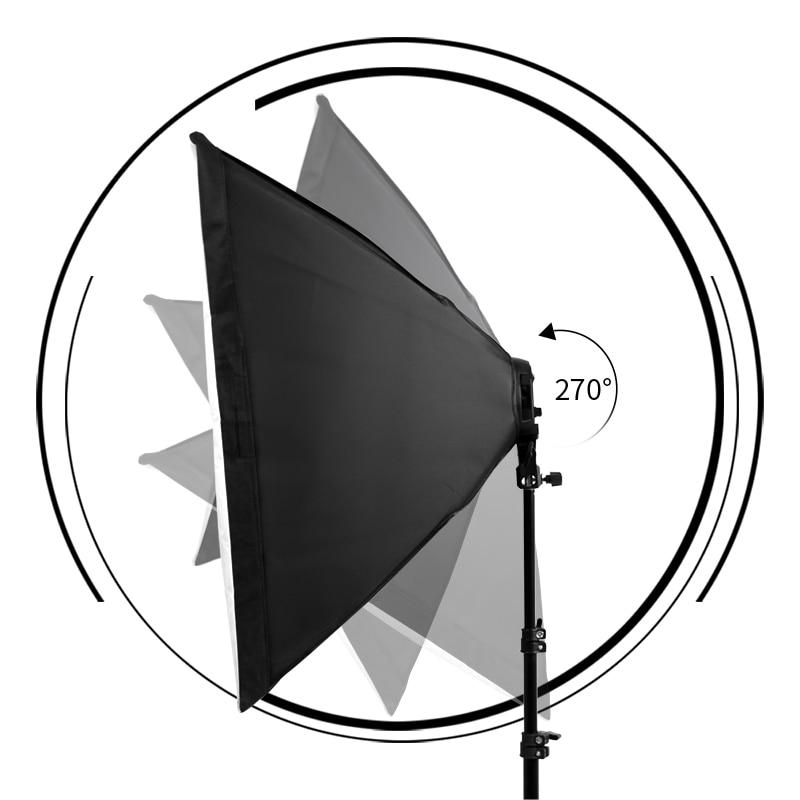 Image 4 - Photography Softbox Lighting Kit Pulsed Light for Photo Studio 8 X 20W Corn LED Bulbs  2X Light Stand Camera & Photo Accessories