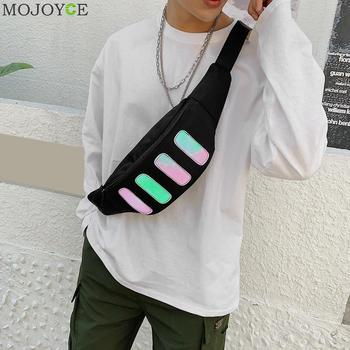 Chic Unisex Waist Bags Fashion Leisure Portable Durable Nylon Casual Fanny Pack Street Style Crossbody Travel Purse