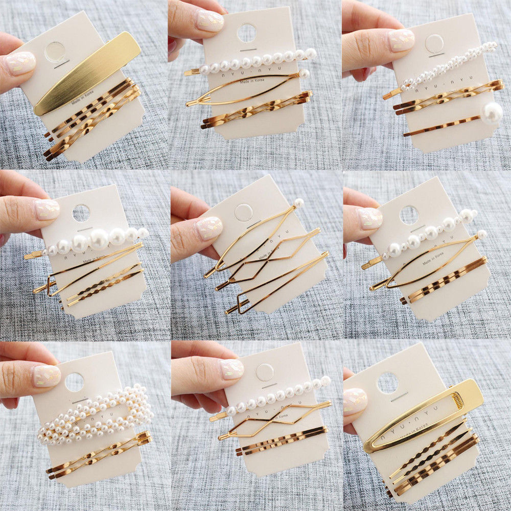 2019 New 3Pcs/Set Pearl Metal Women Girls Hair Clip Bobby Pin Barrette Hairpin Hair Accessories Beauty Hair Styling Tools