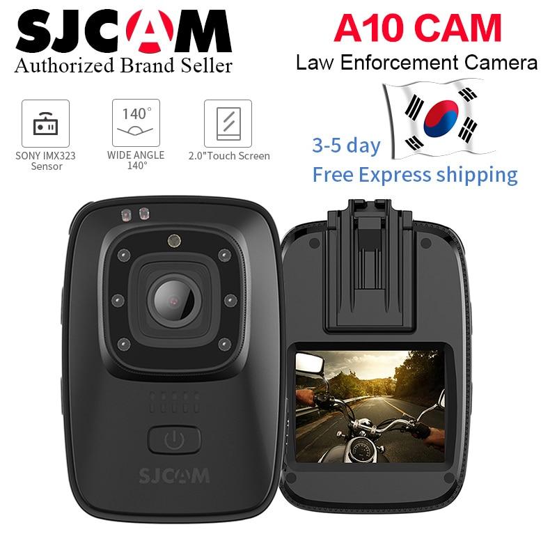 Novo! Sjcam a10 wearable bodycam câmera portátil câmera de segurança infravermelha ir-corte visão noturna posicionamento do laser câmera de ação