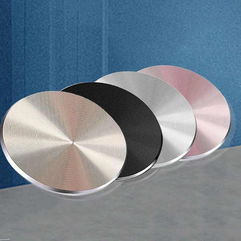 Placa de Metal de moda disco magnético para el soporte del teléfono del coche accesorios soporte hoja de hierro inoxidable mate para el soporte del teléfono magnético