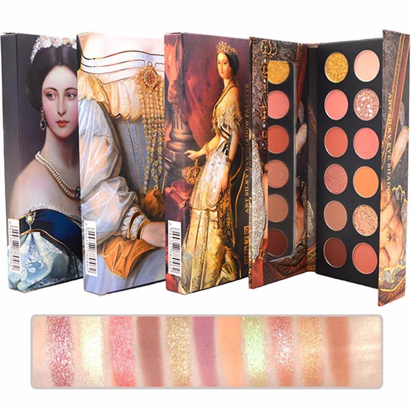 12 Color Nude Eyeshadow Makeup Shimmer Matte Oil Painting Eye Shadow Waterproof Glitter Palette European Nobility Style Cosmetic