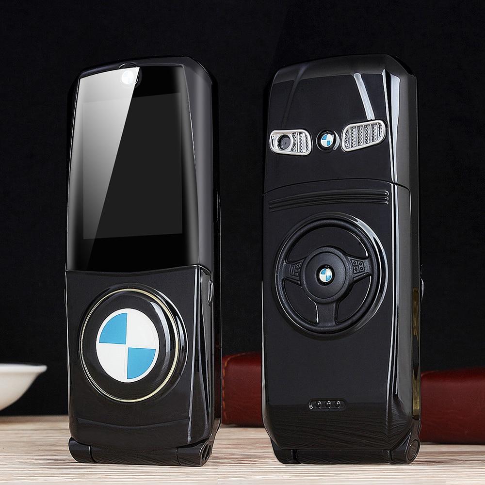 MAFAM 760 Unlocked Flip Full Metal Car Model Key Design Shape GPRS Internet E-book Luxury Senior Mobile Cellphone P003