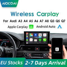 Andream – Wireless Carplay décodeur sans fil, module pour Audi B9 A5/S5/A4/A3 A6 A7 A8 Q3 Q5 Q7 B9 S5, support du système MMI, Siri Voice, miroir-lien, fonctionne avec Apple Carplay/Android Auto