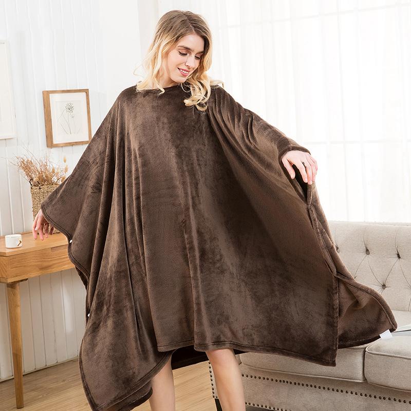 Winter Thick Sofa Comfy TV Blanket Hoodie Sweatshirt Weighted Throw Blanket Fuzzy Fleece Plaid Blanket Fleece Blanket Adult Kids 21