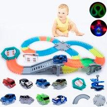 Pista que brilla en la oscuridad, accesorios universales DIY, rampa, puente de giro, cruce de rayos, pista brillante, regalos para niños