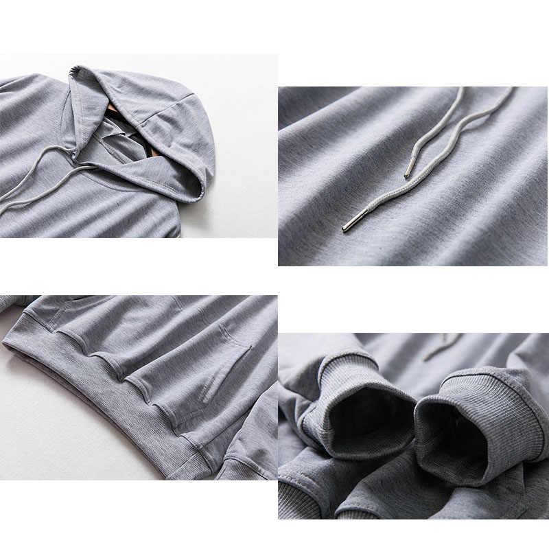 까마귀 스웨터 캐주얼 느슨한 얇은 봄 Hoody 여자 Feamle 여름 탑스 여성 후드 티 스웨터 EU 크기