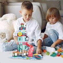 Toys Building-Blocks Educational-Toys Playset Kids DIY for Birthday-Gift 282pcs Bricks