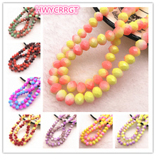 HOT 50pcs/lot 6x4/8x6mm Rondelle Austria Faceted Crystal Glass Beads Loose Spacer for Jewelry Making Diy Bracelet