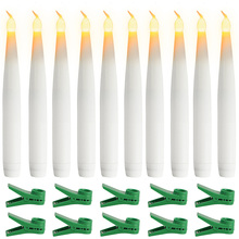6PACK /10PACK Flameless LED Candle Taper Candles with Clips Electric Candle For Christmas Party Candelabra Wedding Home D35