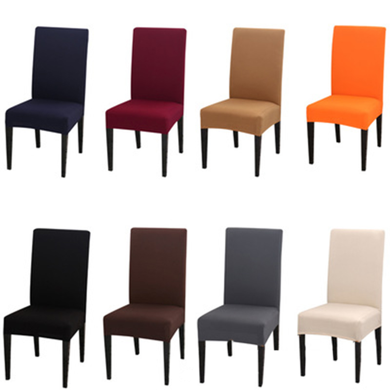 Anti-dirty Chair Covers Spandex Elastic Chair Cover Solid Color Conjoined Minimalist Hotel Restaurant Home
