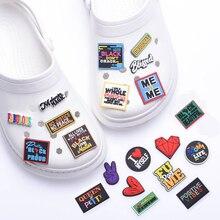 1 pcs Croc Shoe JIBZ Soft PVC Charms Black Girl Magic Designer Accessories Clog Button Decorations Croc JIBE Charm for Girl Gift