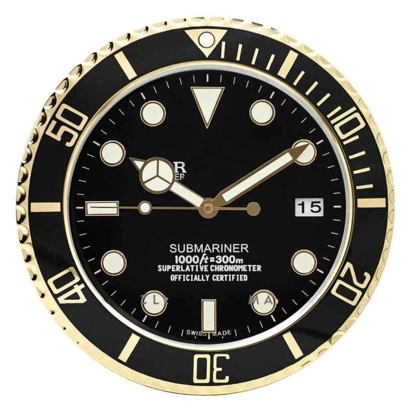 Ev ve Bahçe'ten Duvar Saatleri'de Aydınlık duvar saati duvar oturma odası için Logo ile tarih ile lüks Metal duvar saati Vintage takvim saatleri'da  Grup 1