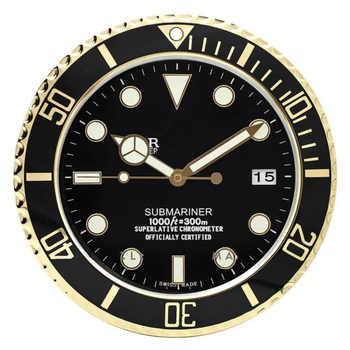 Luminous Wanduhr auf Die Wanduhr für home Logo mit Datum Luxus Metall Wand Uhren Wohnkultur Große Moderne vintage Uhren