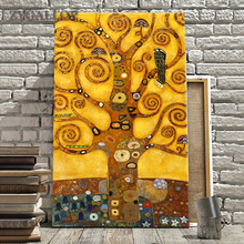 Tree Of Life Wall Art Canvas Painting Gustav Klimt Oil Paintings Prints  Poster Wall Pictures For Living Room Decoration tableau