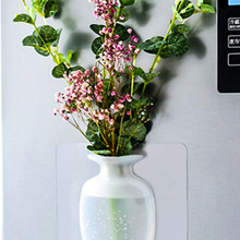 Настенный цветочный флакон, силиконовая ваза, контейнер, Волшебная наклейка на стеклянную стену, цветочные горшки, силиконовый липкий Конт...