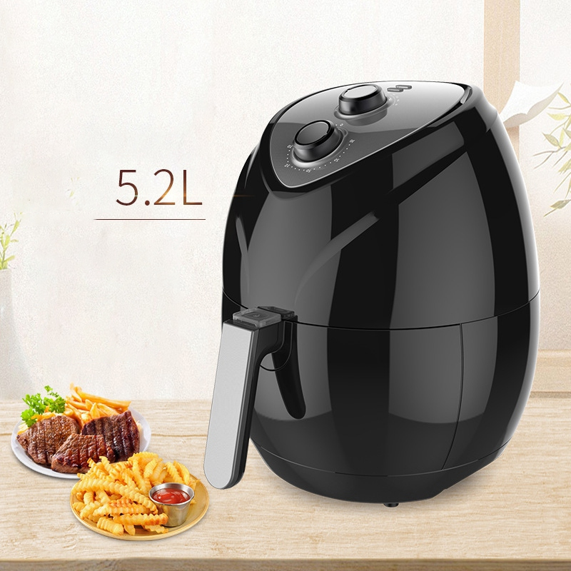 Air Fryer Household Fumeless Fries Electromechanical Oven Large Capacity Smart Fryer-US Plug