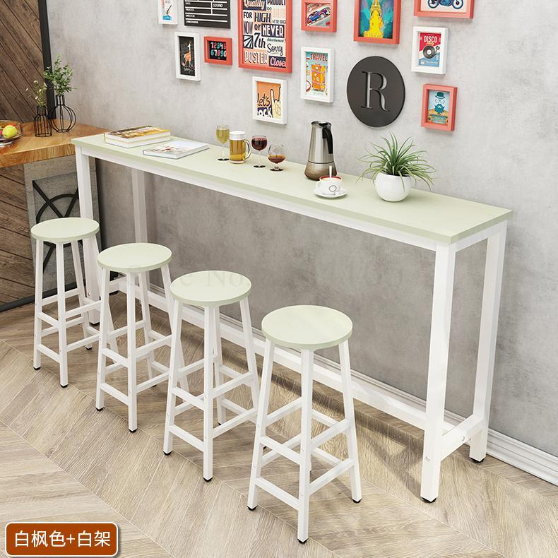 Wall Bar Table Milk Tea Shop High Foot Table Chair Household Simple Modern Small Bar Long Table Long Table Business Aliexpress