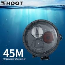 Ateş su geçirmez muhafaza kılıf GoPro Hero 7 6 5 siyah sualtı dalış koruyucu kılıf için kırmızı filtre git Pro 7 6 aksesuar