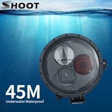 SHOOT funda carcasa impermeable para GoPro Hero 7 6 5, funda protectora negra para submarinismo, filtro rojo para Go Pro 7 6 5, accesorio