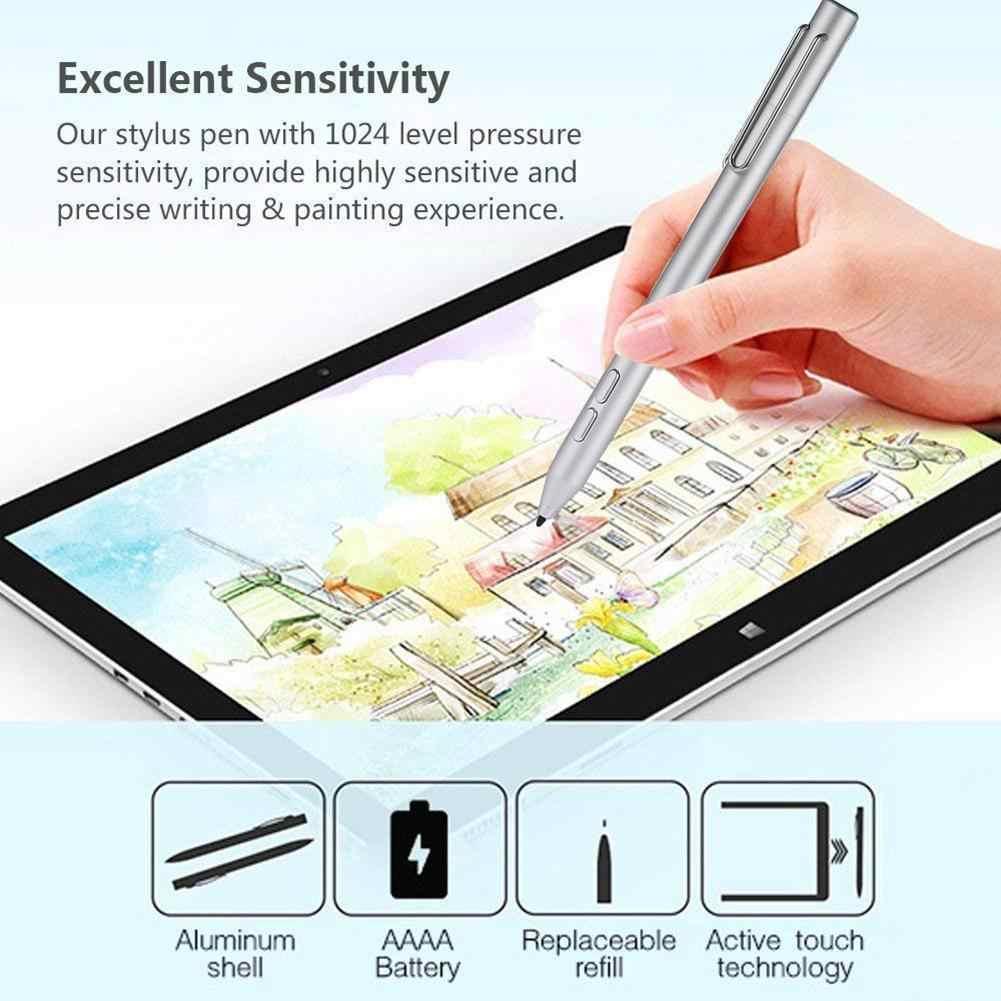 سطح القلم سبائك الألومنيوم أقلام الكتابة على الشاشة النشطة Styli لا إعدادات بلوتوث لمس القلم ل مايكروسوفت السطح الذهاب برو 3 برو 4 5