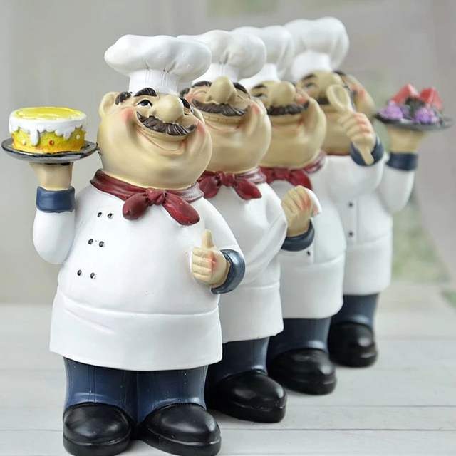 Фото статуэтка шеф повара кухонная скульптура для настольной фигурки цена