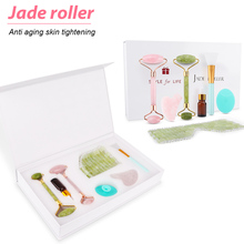 Sha-Set Lifting Jade-Roller Eye-Care-Tools Gua Face-Massager Facial with Gift-Box Eyes-Mask