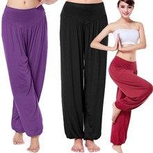 Calças longas femininas soltas harem yuga modal dança trouses casual hippy baggy ampla dança do ventre confortável boho calças 16 cores