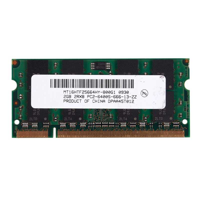 2GB DDR2 PC2-6400 800MHz 200Pin 1.8V Memory Laptop SO-DIMM Notebook Ram