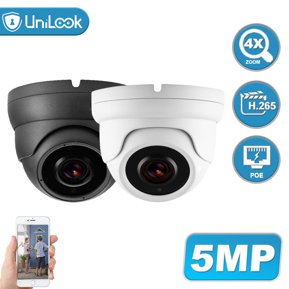 UniLook 5MP POE IP Camera 4X Zoom 2.8-12mm Lens Wide Angle ONVIF Hikvision Compatible CCTV Security Camera IP67 H.265