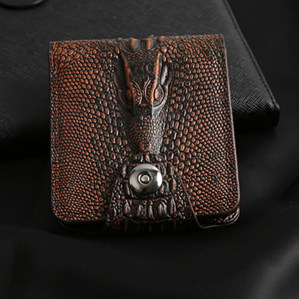 Wear Resistant PU Leather Men Wallet Gift Practical Retro Magnetic Buckle Multi Pocket Card Holder Bifold Classic Exquisite