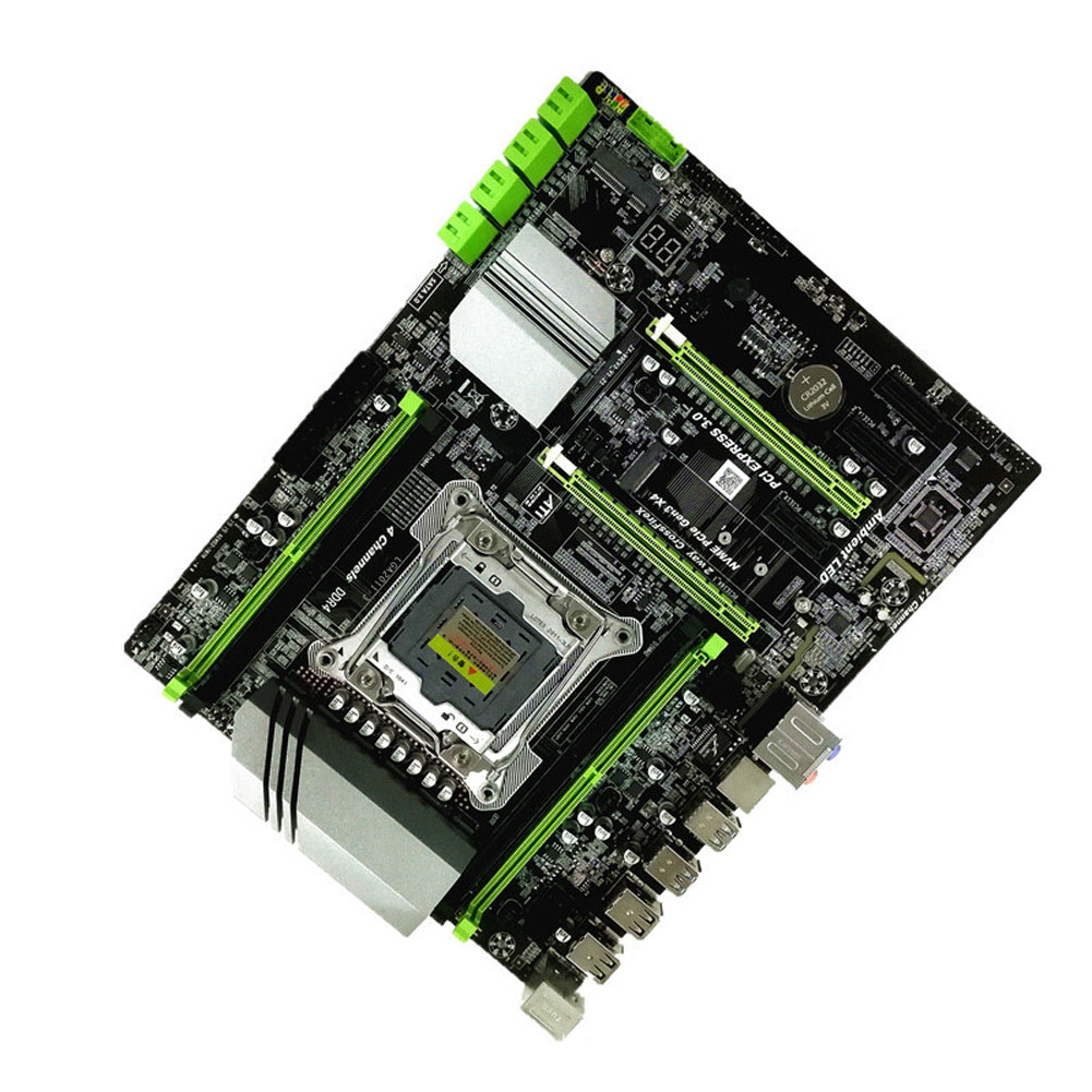 <font><b>X99</b></font> Lga2011 3 Accessories Systemboard 4 Channel Ddr4 Motherboard Repair Mainboard Powerful High Speed Stable Desktop Computer image